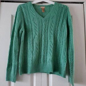 Canyon River Blues Large Green Knit Sweater